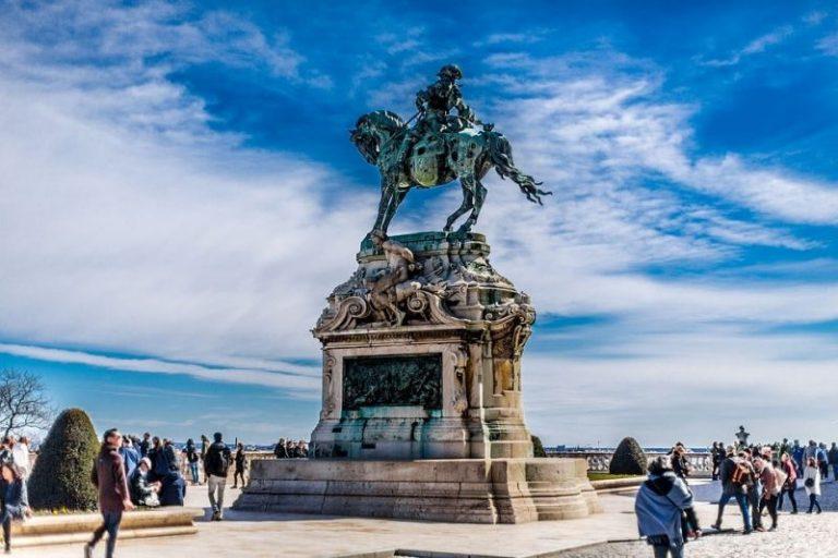 Castle Statue, Blue Horse Rider