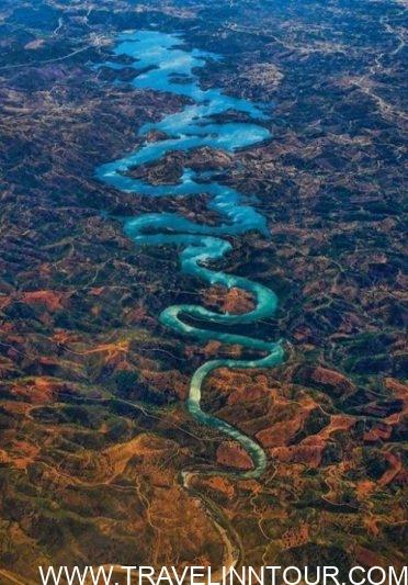 blue dragon river, Portugal
