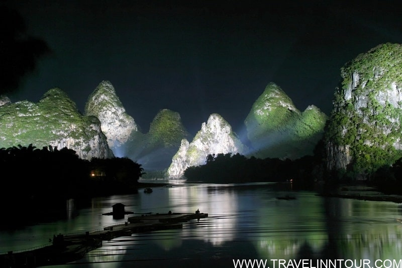 Guilin Mountains Night View - Photography Destinations For Travelers