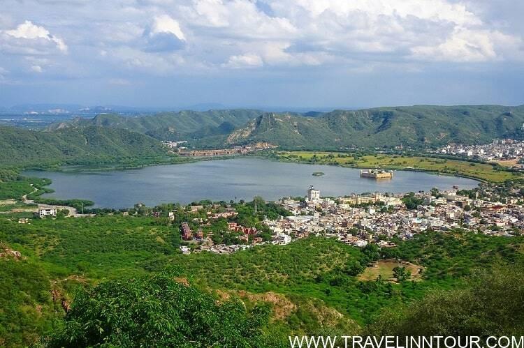 Lake Man Sagar Jalmahal Aravalli Hills Jaipur